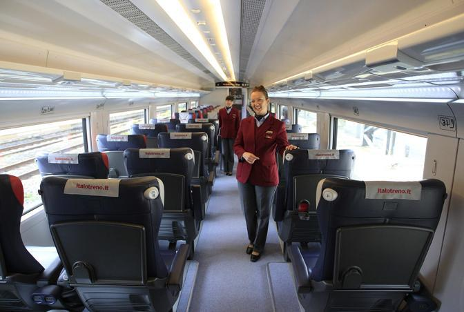 """... high-speed train """"Italo"""" during the inaugural trip from Rome to Naples"""