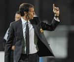 Max Allegri, tecnico del Milan. I rossoneri sono riusciti a conservare il terzo posto
