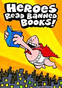 Copertina della Banned Books Week 2014, dedicata al fumetto Captain Underpaints di Dav Plikey. (Fonte: www.npr.org)