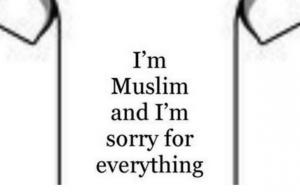 Uno dei tweets ironici, nell'ambito dell'iniziativa #MuslimApologies. (Fonte: nuzzel.com)
