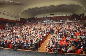 L'assemblea plenaria di apertura dell'evento Contromafie. (Fonte: contromafie.it)