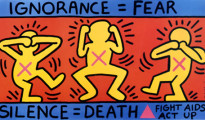 Keith Haring (AIDS) - fonte observer.com