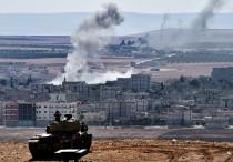 Carro armato turco sulla frontiera vicino a Kobane (www.telegraph.co.uk)