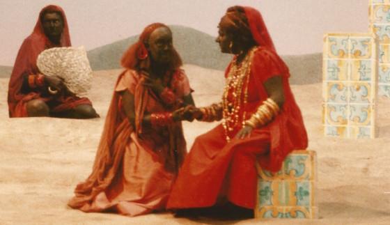 Una scena dell'opera allestita nel 1990 da Luca Ronconi (da www.lucaronconi.it)